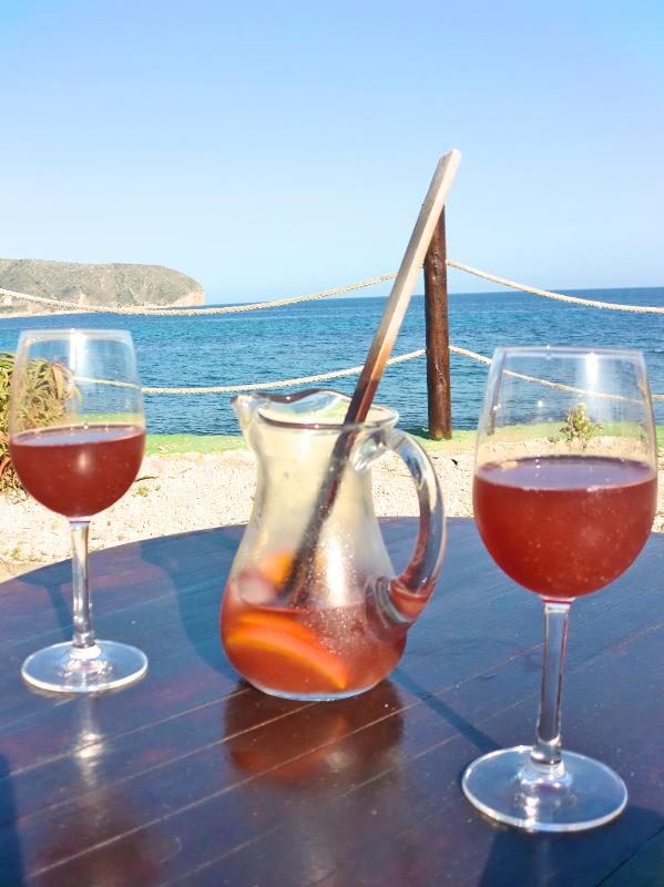 Sangria & sea and one of the numerous coastal bars. Great views.