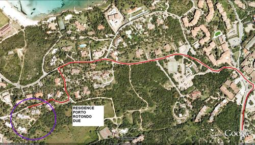 Mappa del residence
