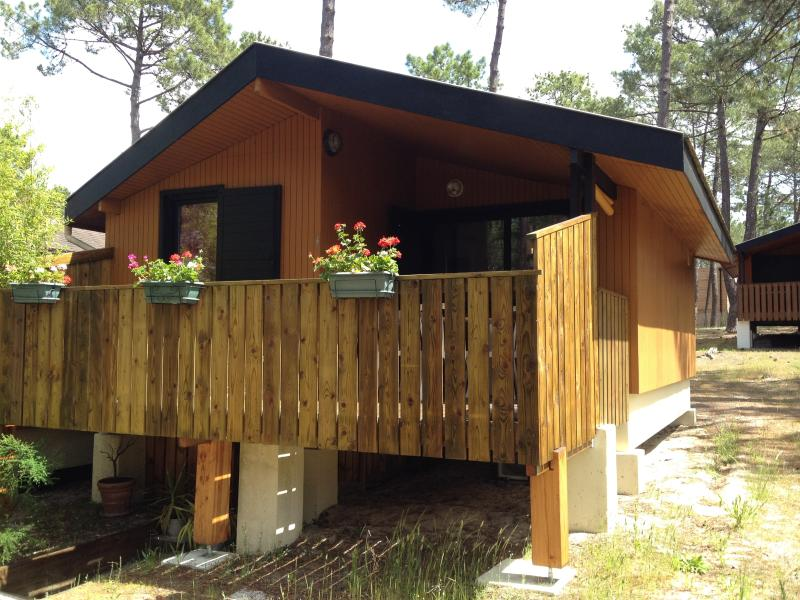 Chalet at the heart of the pine trees between ocean and lake