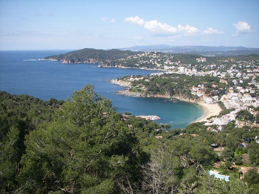 Vista de Llafranc y Calella (Palafrugell)