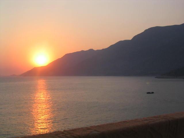 Coucher de soleil vue à Stella Maris