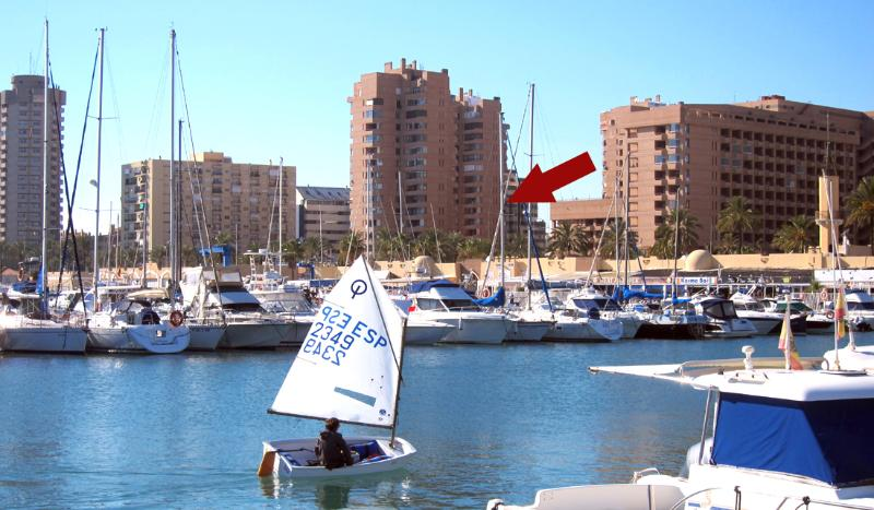 View from Puerto Marina/ Yacht Harbour to apartment
