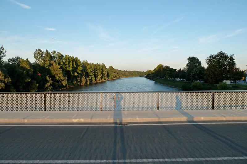 Mura River, border to Austria