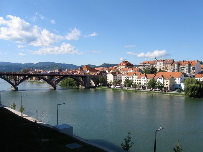 Maribor City on the Drava River
