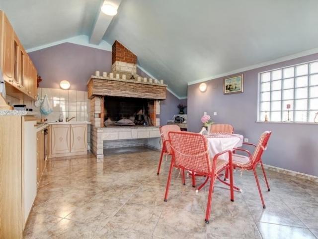 Cozy interior of the summer kitchen