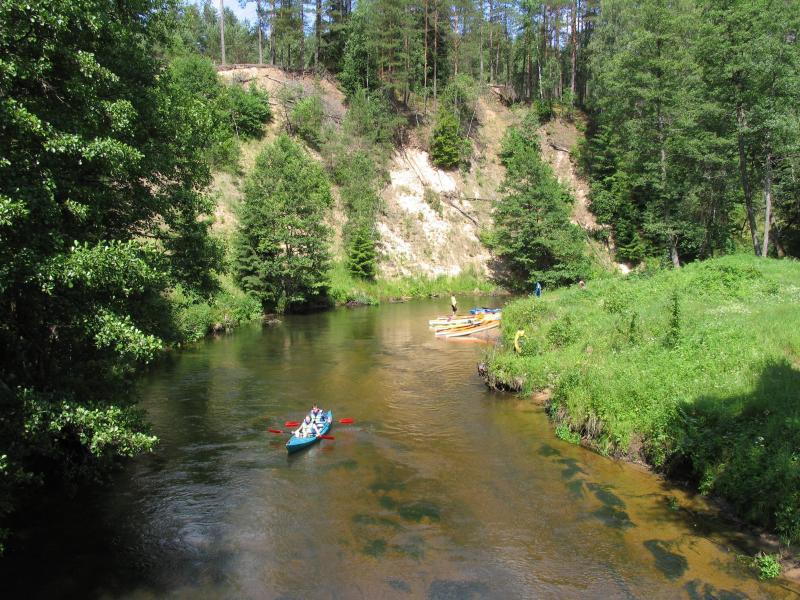 Ula river bank