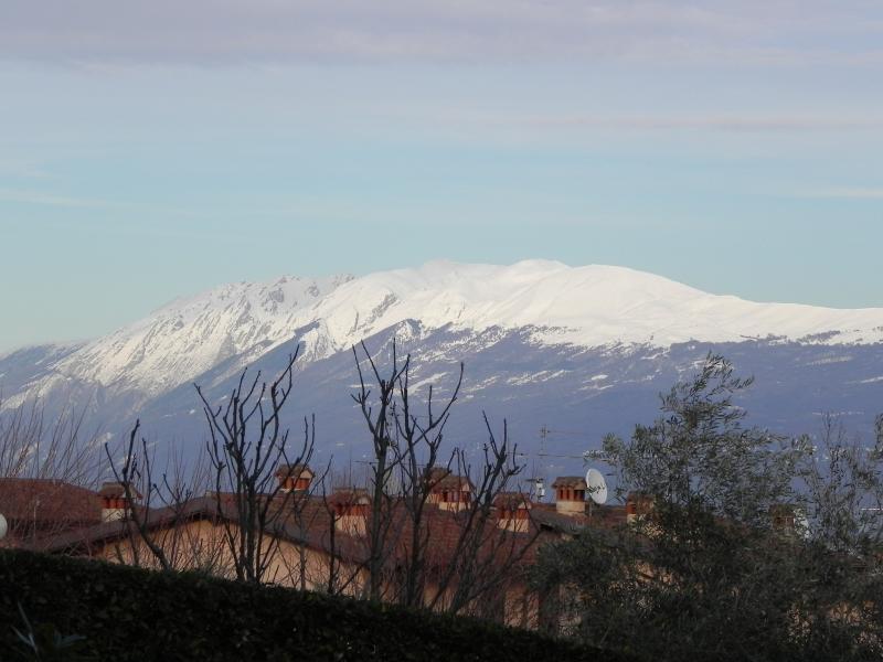 il Monte Baldo visto dal giardino