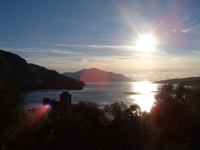 Evening sun over Loch Alsh and Eilean Donan