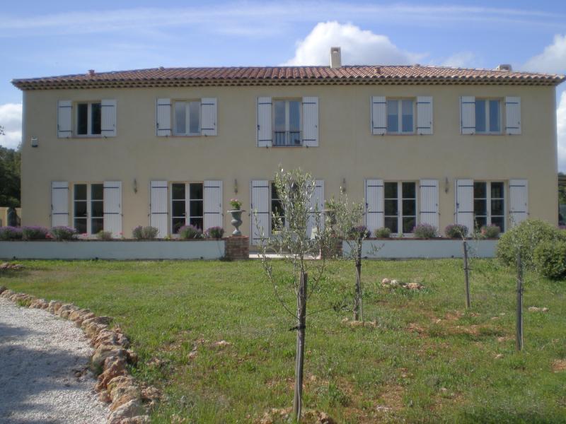 house & terrace overlooking garden
