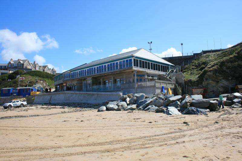 The Beach Hut and Jamie Oliver's fifteen restaurant above