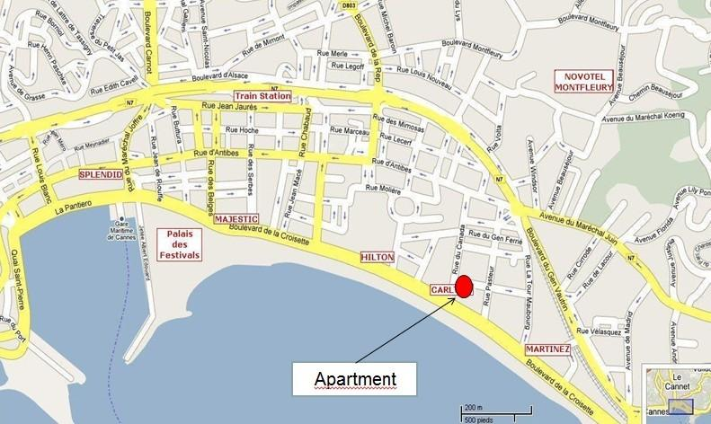 Location of the apartment
