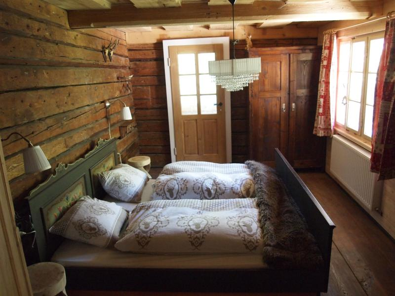 Original Austrian bedroom with origanal beams. With double bed.