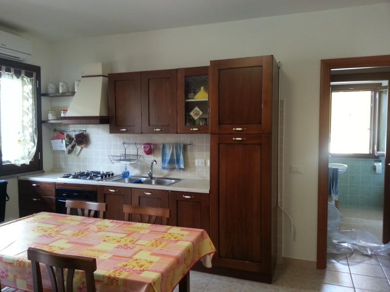 ampia cucina/soggiorno