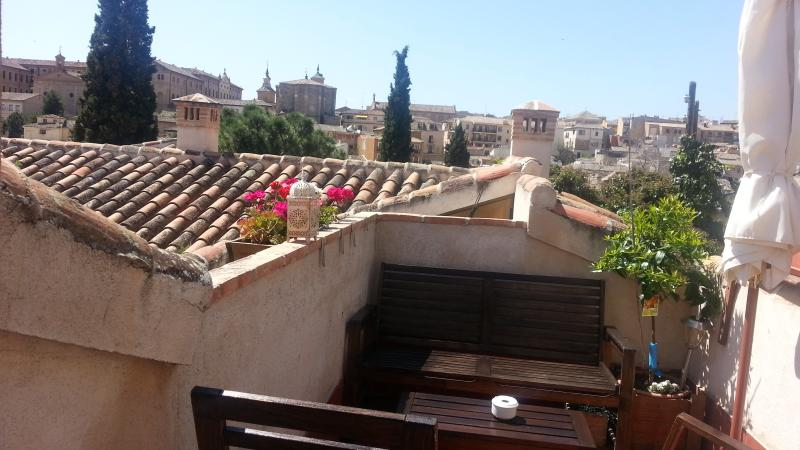 The terrace with beautiful views of Toledo´s Casco historic