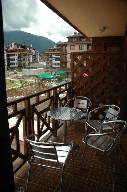 Si usted se hospeda en los meses de verano podrá disfrutar del desayuno en el balcón una gran vista a la montaña