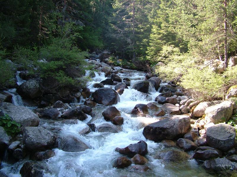 Toparse con excesiva efusión ríos como tienes un paseo por la montaña, tomar un picnic