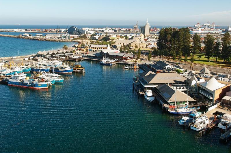 Puerto de pescadores de Fremantle