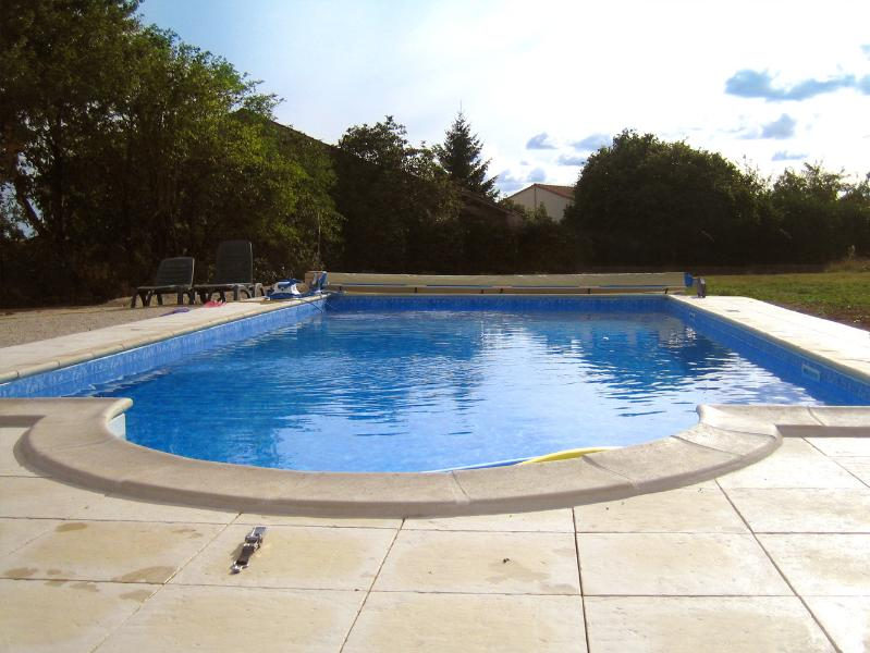 Relax & enjoy our large heated pool & sun terrace with loungers. Electric safety pool cover.