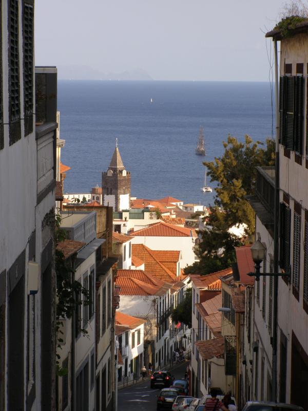 You will be staying close by the frequently photographed view down Calcada do Pico & out to sea