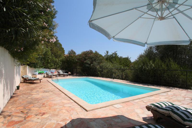 De privé zwembad van Villa Yolanda