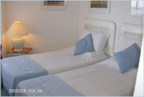 Twin bedroom looking onto Sea Terrace