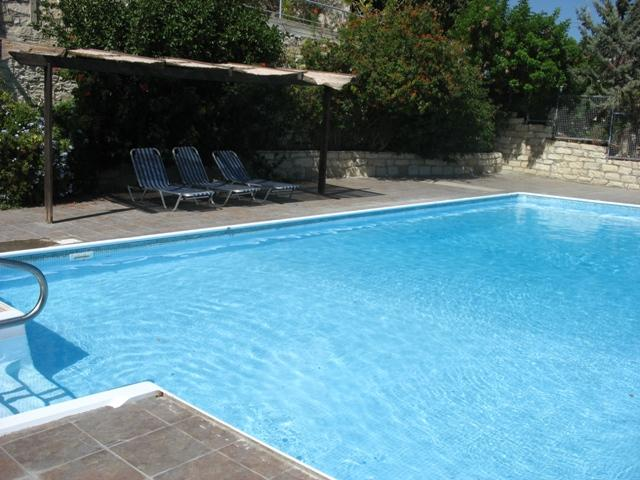 Pool within walking distance in village