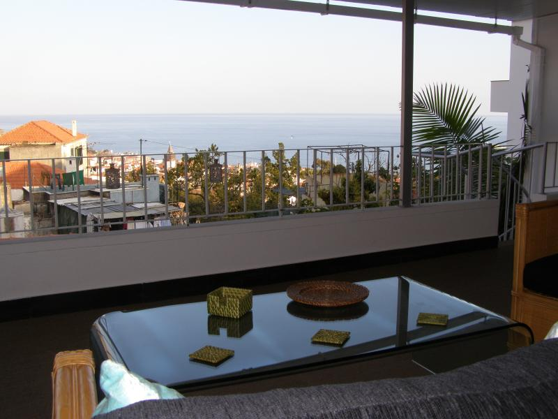 Enjoy the view of the sea and city of Funchal from the comfort of your sofa or arm-chair