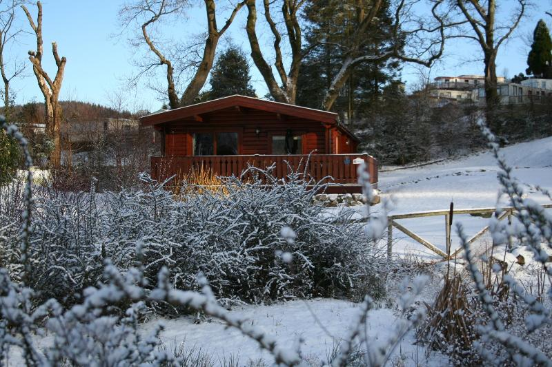 Fully centrally heated, Birchlea is cosy even in the snow