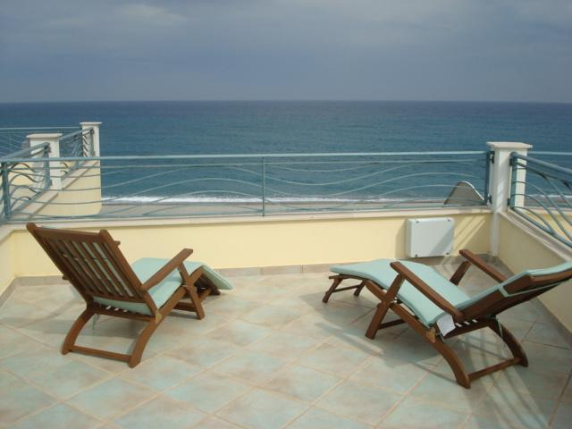 relax on the rooftop terrace