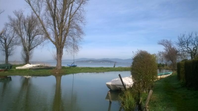 Vista dal molo a pochi metri dalla casa