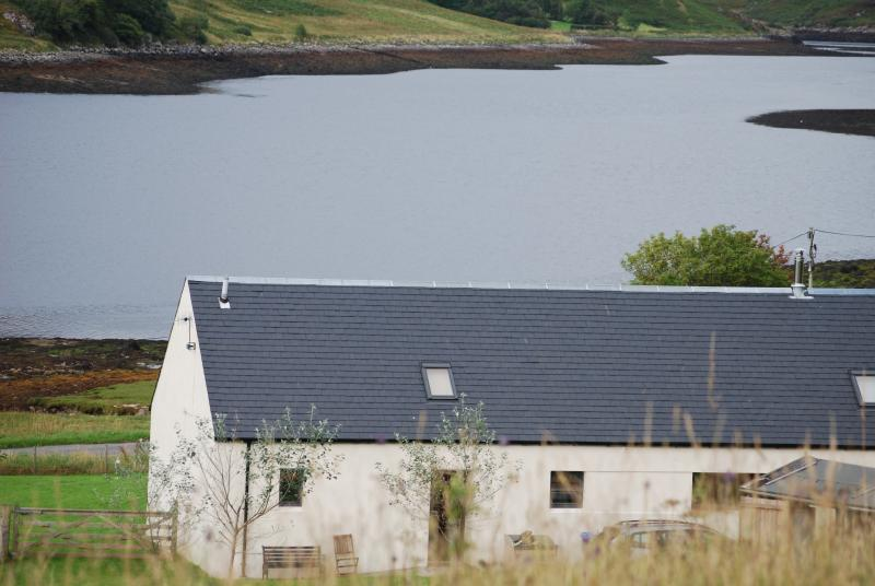 Lochside Lodge and Loch Long from our back field