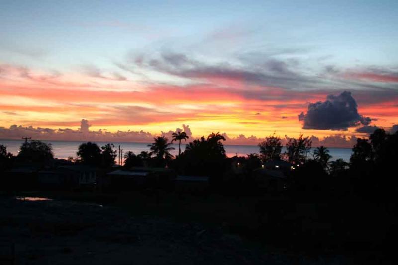 Sunset from Ajoupa Villas