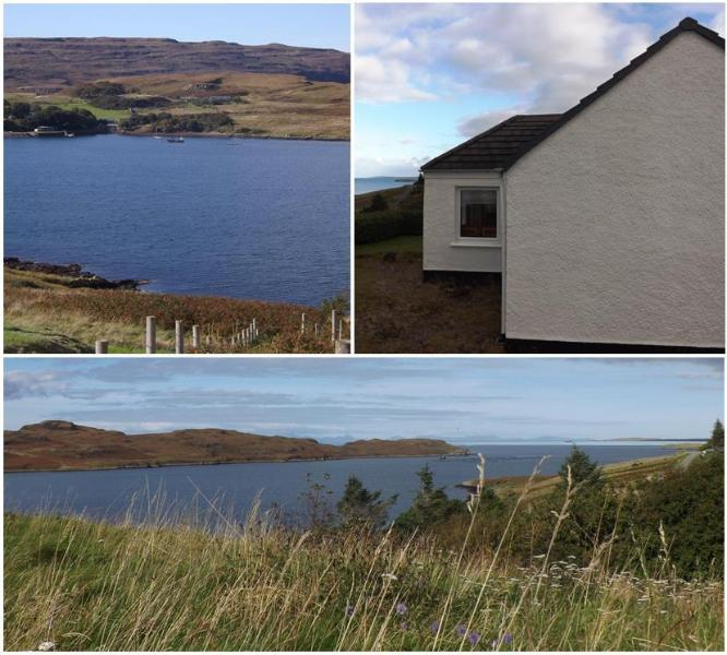 8 Kildonan overlooks Loch Greshornish with superb views.