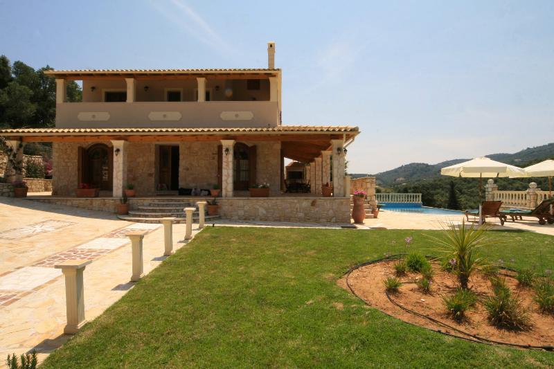 Villa Loukas Front View & Garden