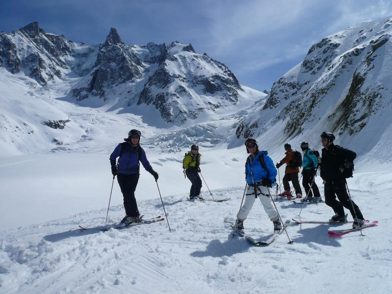 A break on the Vallee Blanche