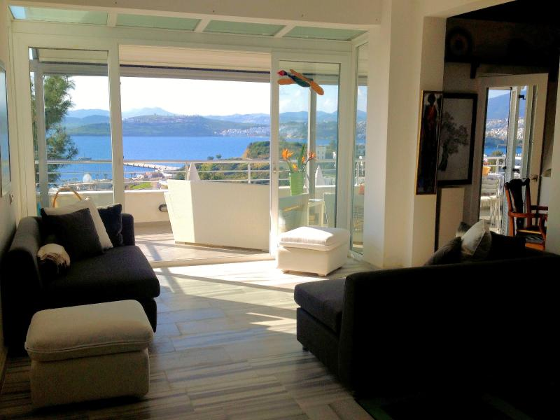 View from the living room. Vue du salon