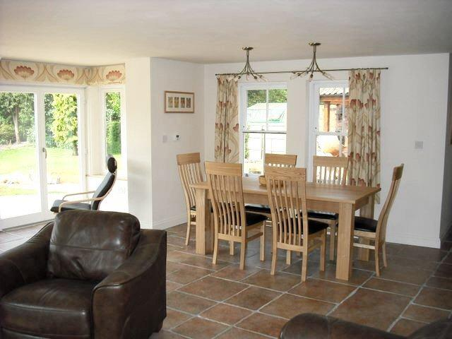 Dining area in the garden room
