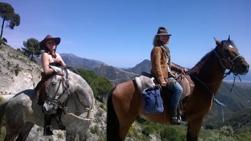 Horse riding in the natural park