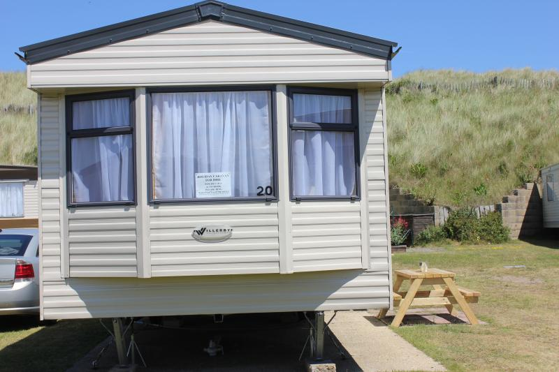 One of our comfortable caravans to hire.
