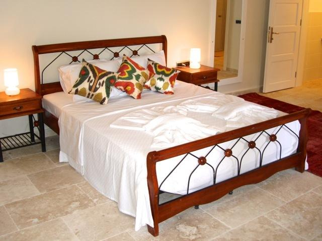 Large air conditioned bedroom with cool thick walls, just perfect for hot summer nights