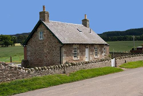 Close to the foot of the Lammermuir Hills, with a large enclosed garden