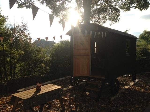 Our Shepherds Hut nestled in a quiet peaceful corner away from the hustle & bustle of your busy