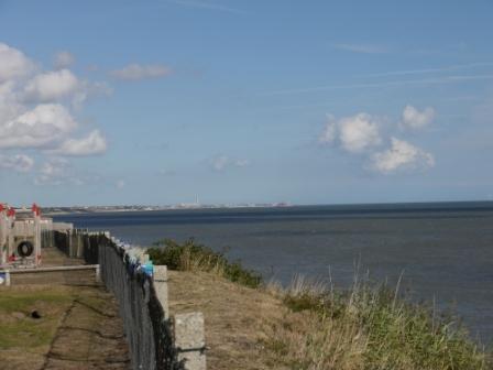 Cliff-side sea view towards Gorleston-on-Sea