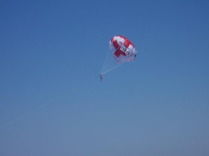 Paragliding from Tsilivi beach