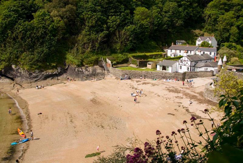 Readmoney beach - the main beach 10 minutes walk from Helen House