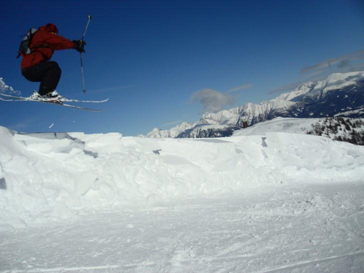 Skiing Fun on Speiereck Mountain