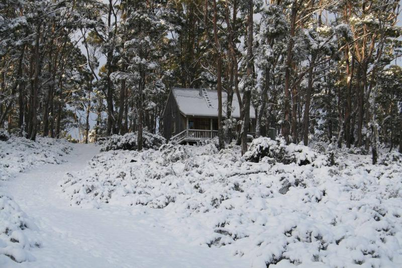Cradle Mountain Love Shack in winter