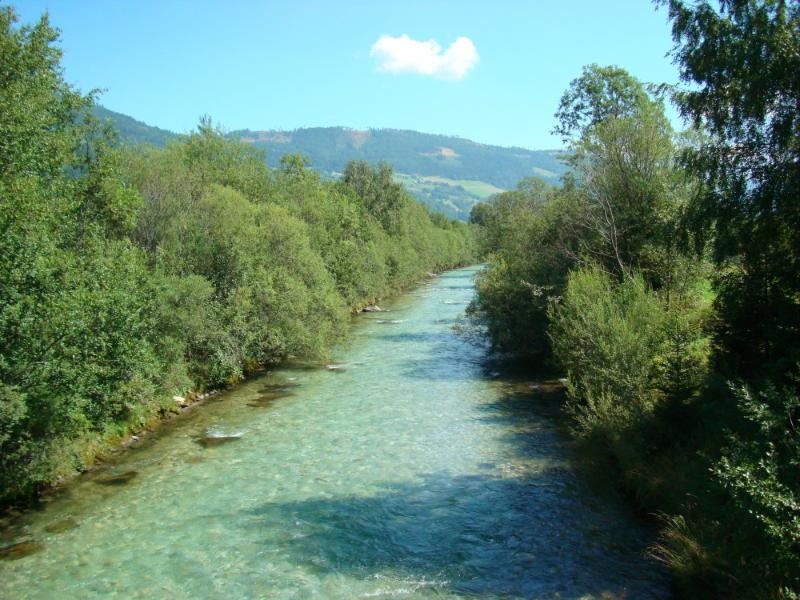 The clear waters of the River Mur