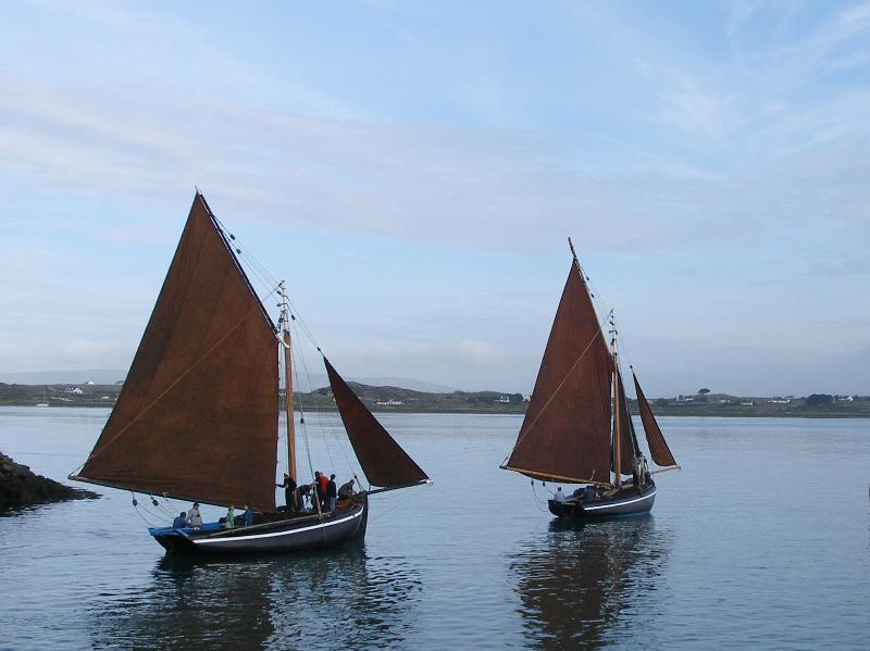 Crunniu Na mBad boat race ,mid Aug. each year in Kinvara village .