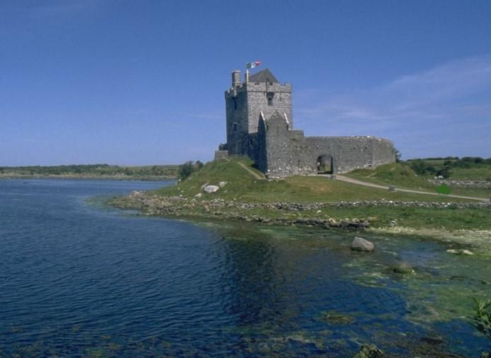Dunguaire Castle ,sitting at the northern tip of Kinvara bay ,with nightly banquets from Apr. /  Oct
